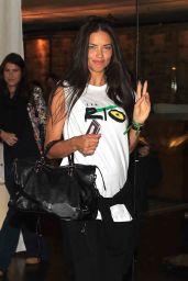 Adriana Lima - Leaving Fasano Restaurant Sao Paulo 6/30/2016
