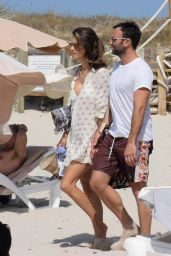 Alessandra Ambrosio Boating While in Ibiza 7/3/2016