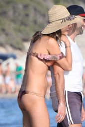 Alessandra Ambrosio in a Bikini on a Beach in Ibiza 7/2/2016