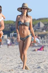 Alessandra Ambrosio Shows Off Her Bikini Body - Beach in Ibiza 7/1/2016