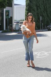 Alessandra Ambrosio - Visit a Friends House in Beverly Hills 7/26/2016