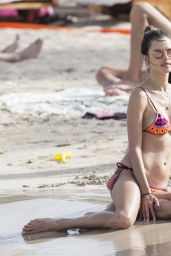 Alessandra Ambrossio in a Bikini on the Beach in Ibiza, Spain 7/4/2016