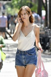 Alexa Chung in Jeans Shorts - NYC 7/25/2016