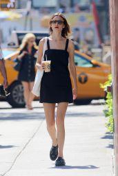 Alexa Chung in Summer Mini Dress - New York City, 07/18/2016
