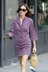 Alexa Chung Leggy in Mini Dress - New York City, 7/16/2016