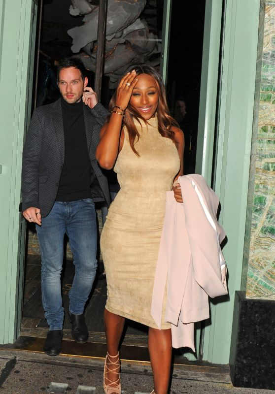 Alexandra Burke and Her Boyfriend - Leaving Sexy Fish Restaurant in London 6/30/2016