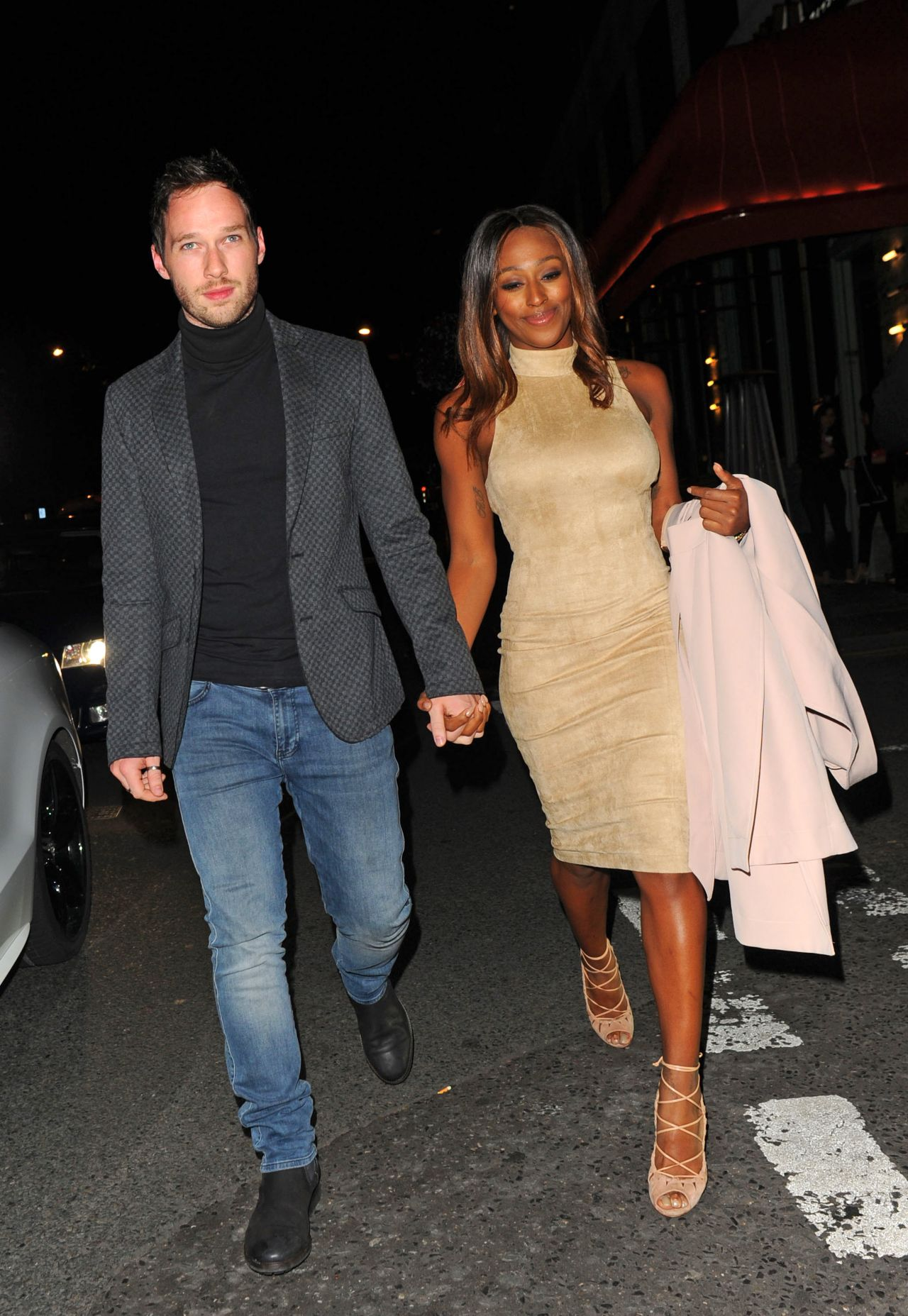 Alexandra Burke And Her Boyfriend - Leaving Sexy Fish -9376