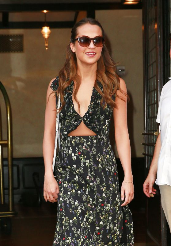 Alicia Vikander at Greenwich Hotel in New York City 07/21/2016