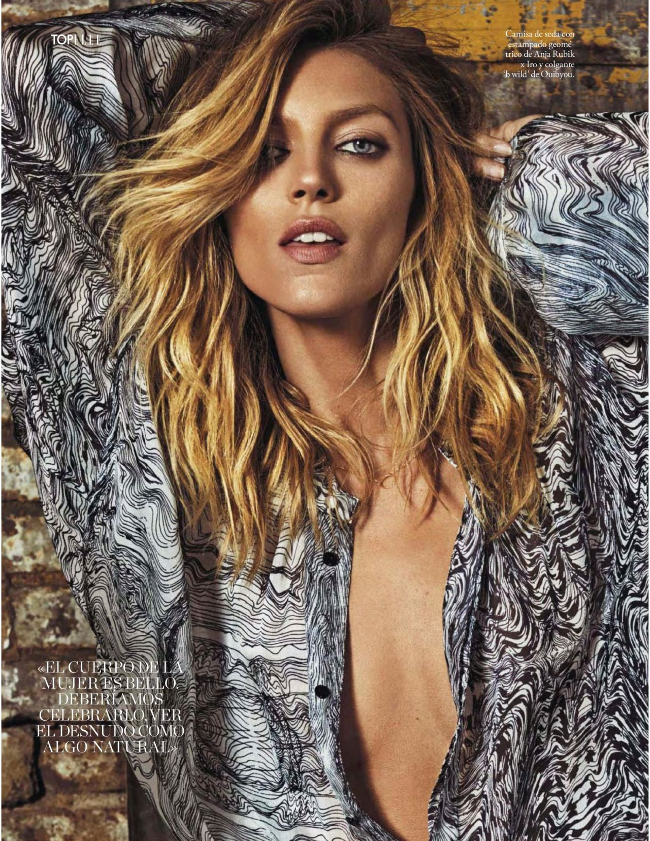 Anja Rubik – 'Modelo de Diseno' Elle España July 2016 Issue