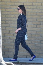 Anne Hathaway - Leaving a Recording Studio in Burbank, 7/25/2016