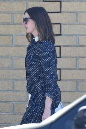Anne Hathaway - Leaving a Recording Studio in Burbank, 7/25/2016