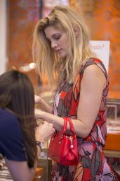 Ashley James - Shopping For Jewellery at Folli Folli in Regent Street, London, July 2016