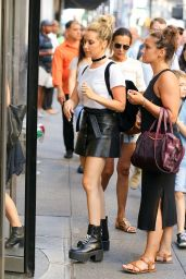 Ashley Tisdale Cute Street Style - NYC, July 2016