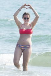 Aurora Ramazotti in a Bikini - Beach at Forte dei Marmi, July 2016