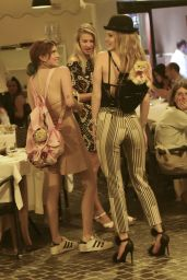 Bella and Dani Thorne - Out to Dinner in Rome 7/8/2016