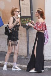 Bella and Dani Thorne Street Style - Rome 7/9/2016