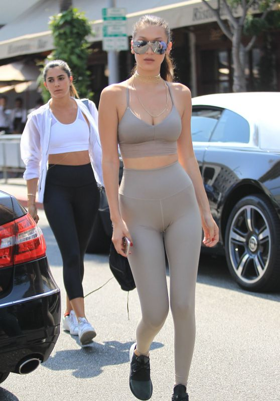 Bella Hadid in Tights - Beverly Hills 7/29/2016