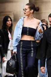 Bella Hadid Urban Outfit - Leaving the Versace Fashion Show in Paris 7/3/2016