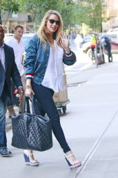 Blake Lively Casual Style - at Her Hotel in NYC 7/11/2016