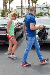 Britney Spears in Shorts - Leaving 24 Hour Fitness Gym in Las Vegas 7/9/2016