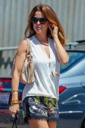 Brooke Burke Leggy in Shorts - Shopping in Malibu 7/2/2016