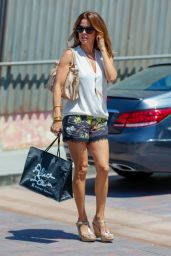 Brooke Burke Leggy in Shorts - Shopping in Malibu 7/2/2016