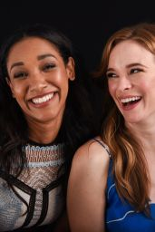 Candice Patton and Danielle Panabaker -