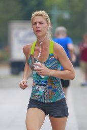 Claire Danes - Jogging Around New York, July 2016