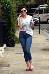 Daisy Lowe in Tight Jeans - Out in London 7/2/2016