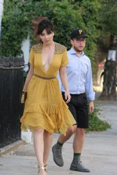 Daisy Lowe - Leaving Her Home Heading to an Event in London 7/20/2016