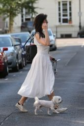 Daisy Lowe - Taking Her Dog For a Walk in London 7/20/2016