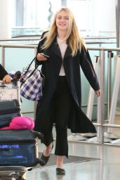 Dakota Fanning at Pearson International Airport in Toronto 7/11/2016