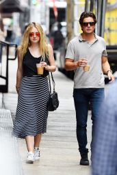 Dakota Fanning Street Style - NYC 7/29/2016