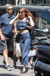 Dakota Johnson Casual Style - Paris 7/19/2016