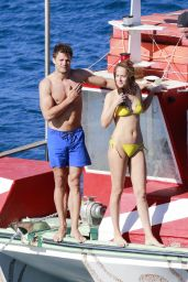 Dakota Johnson in Yellow Bikini -