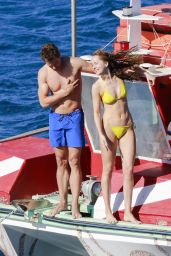 Dakota Johnson in Yellow Bikini -