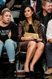 Demi Lovato at Roc Nations Summer Classic Basketball Game at the Barclays Center in Brooklyn, 7/21/2016