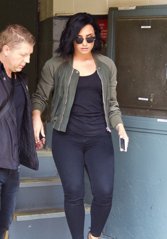 Demi Lovato - Leaving the Z100 Studios in New York City 7/13/2016