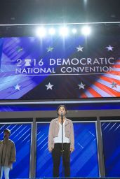 Demi Lovato - Rehearsing for Democratic National Convention Performance at Well Fargo Center in Philadelphia 07/25/2016