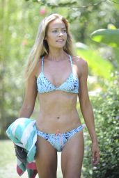 Denise Richards in a Bikini at Her House in Los Angeles, July 2016
