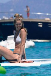 Doutzen Kroes in Bikini - Paddleboarding in Formentera, Spain 7/25/2016