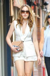 Elizabeth Gillies Shows Off Her Legs in a Pair of Shorts - New York City, June 2016