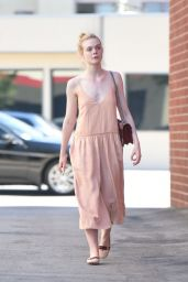 Elle Fanning in Summer Dress - Los Angeles, 07/07/2016