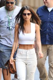 Emily Ratajkowski Is Stylish - Out in Boca Raton, July 2016