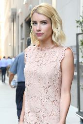 Emma Roberts is Looking All Stylish - Leaving Her Hotel in New York City, 07/12/2016