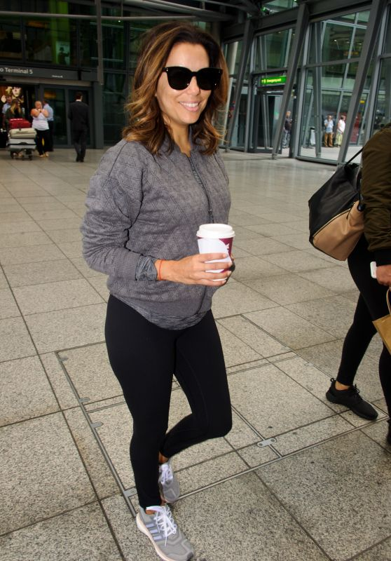 Eva Longoria - Arrives at Heathrow Airport in London 7/27/2016