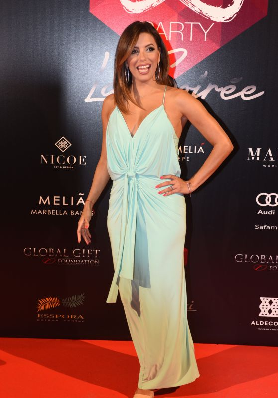 Eva Longoria - Global Gift Gala Pre-Party in Marbella, Spain 7/17/2016
