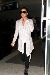 Eva Longoria Travel Outfit - LAX Airport 07/21/2016