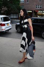 Famke Janssen Cute Outfit - New York City, 07/19/2016