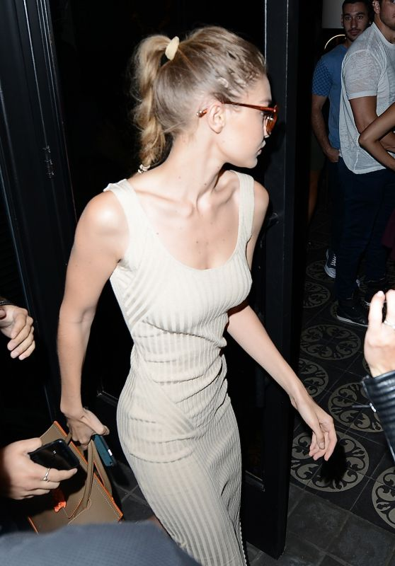 Gigi Hadid at the Doheny Room in Los Angeles 7/28/2016